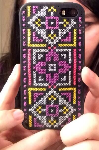 my diy cross stitch iphone case :)