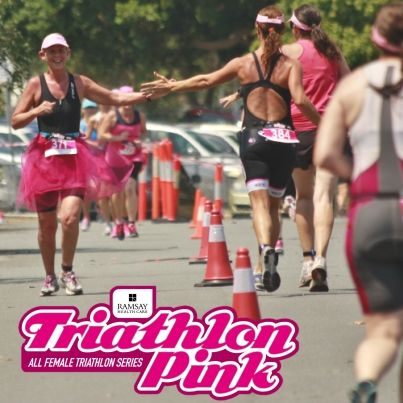 Triathlon Pink is not a hectic, competitive environment! It's all about cheering on your friends (or even strangers) and helping each other to achieve your goals!
