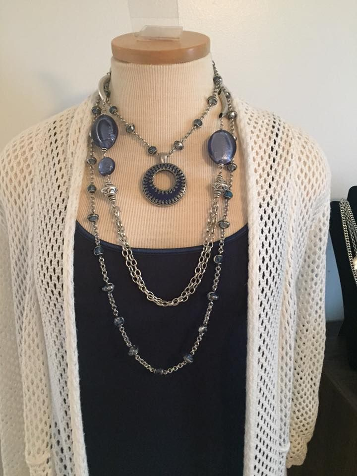 Premier Designs Jewelry 2015 Line. Heaven Sent and Skye Necklaces worn together with the Double Take Enhancer. Gorgeous!