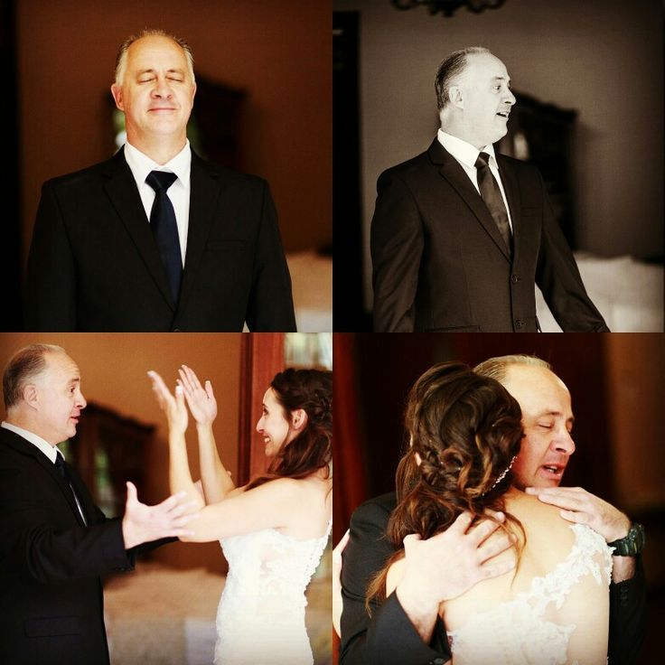 Wedding photography. Father reveal photo... beautiful moment with dad captured on camera!