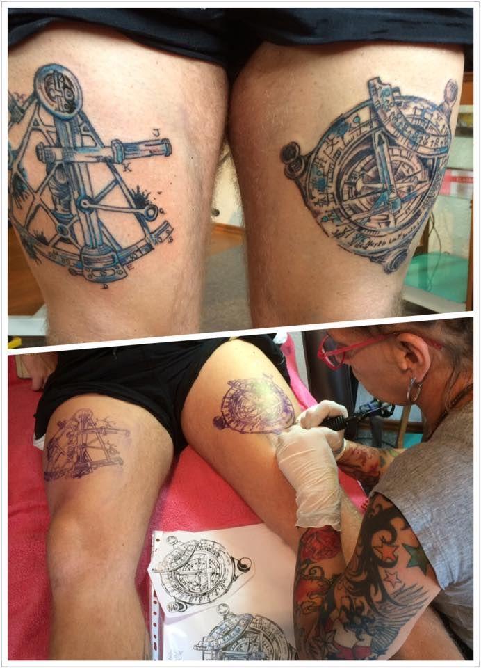 FARBREIZ Tattoo & Art www.farbreiz-tattoo.de claudia@farbreiz-tattoo.de #kompass #tattoo #sea #seefahrer