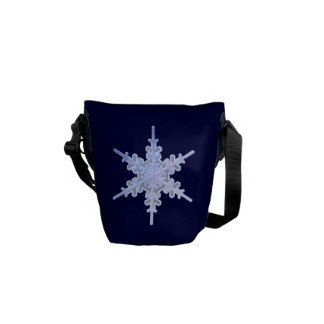 Decorative Snowflake Messenger Bag