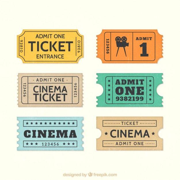 Billets de cinéma rétro, j'adore !