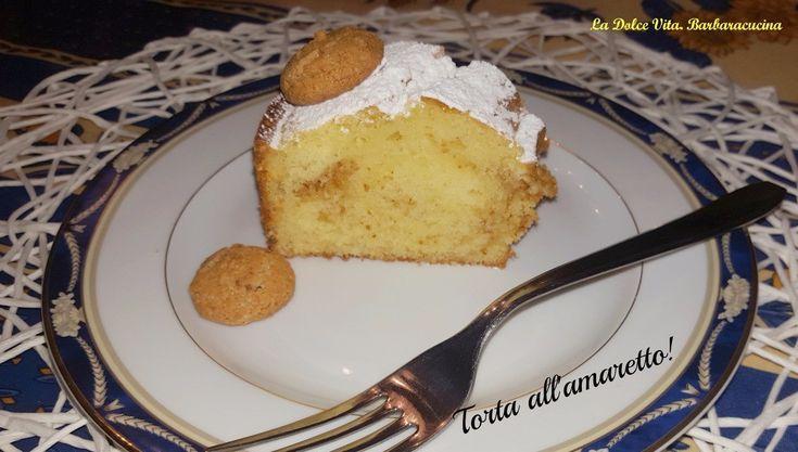 Torta con #amaretti e #yogurt, sofficissima!
