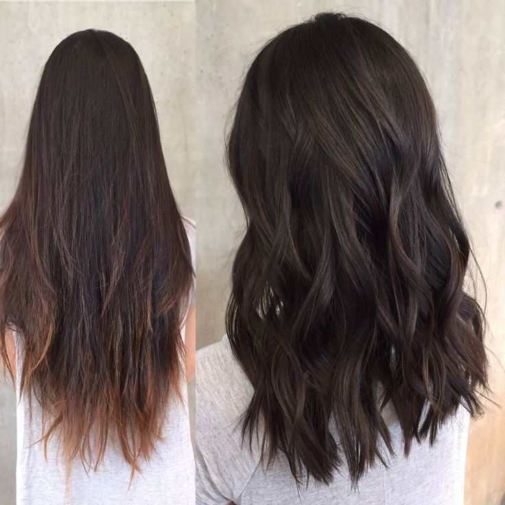 Razor cut to create texture and long layers❤️