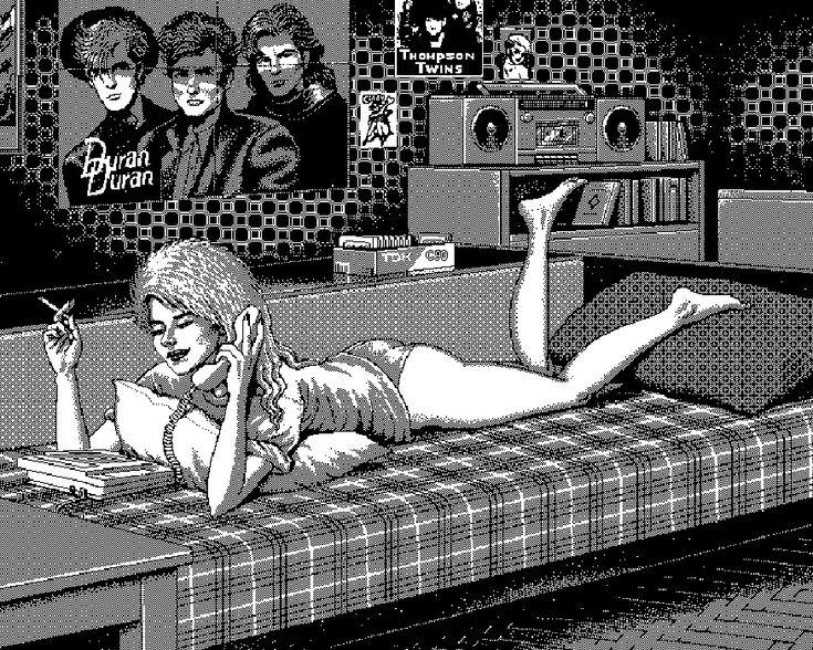 Выставка Уно Моралеса «Синие зубы»: ужасы перестройки в пиксель-арте, Buro 24/7