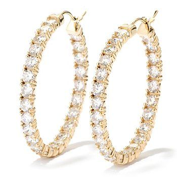 Add some extra sparkle with these Inside-Out Hoop Earrings!