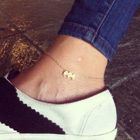 Cutie Batman anklet, 14K gold filled, best gift for your friend