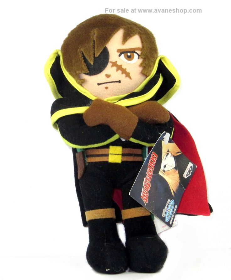 Captain Harlock Plush UFO Catcher Vintage Galaxy Express 999 Anime Plushie With Tag - Click Image to Close