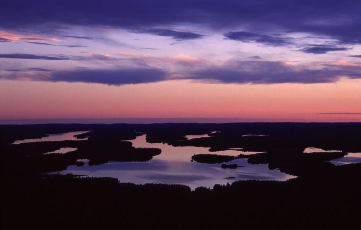 Scenery from Iivaara to lake Iijärvi, Kuusamo, Finnish Lapland