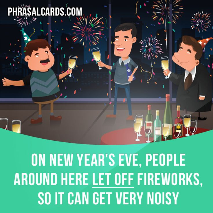 """""""Let off"""" means """"to make something explode"""".  Example: On New Year's Eve, people around here let off fireworks, so it can get very noisy.  #phrasalverb #phrasalverbs #phrasal #verb #verbs #phrase #phrases #expression #expressions #english #englishlanguage #learnenglish #studyenglish #language #vocabulary #dictionary #grammar #efl #esl #tesl #tefl #toefl #ielts #toeic #englishlearning #vocab #wordoftheday #phraseoftheday"""