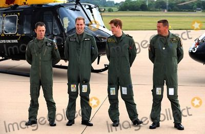 Prince William and Prince Harry Prince William and Prince Harry Defence Helicopter Flying School Training-photocall-raf Shawbury (Royal Air Force), Shrewsbury , England United Kingdom 06-18-2009 Photo by Mark Chilton-richfoto-Globe Photos, Inc.