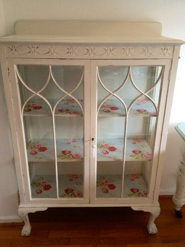 See so many unloved little glass cabinets in charity shops.... See what they can become!