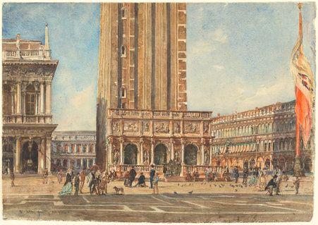 Rudolf von Alt. The Piazza San Marco, 1874