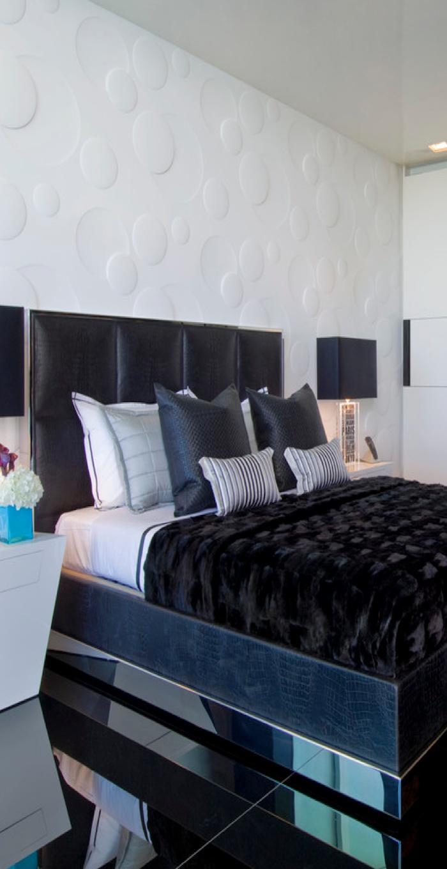 dramatic bedroom ideas 16 i love the wall and headboard