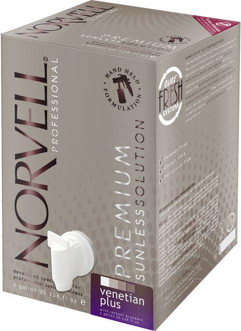 Norvell Venetian Plus Sunless Spray Tan Solution, 128 oz Gallon