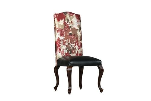Reeded Fully Upholstered Side Chair Measurements 560 x 520 x 1200