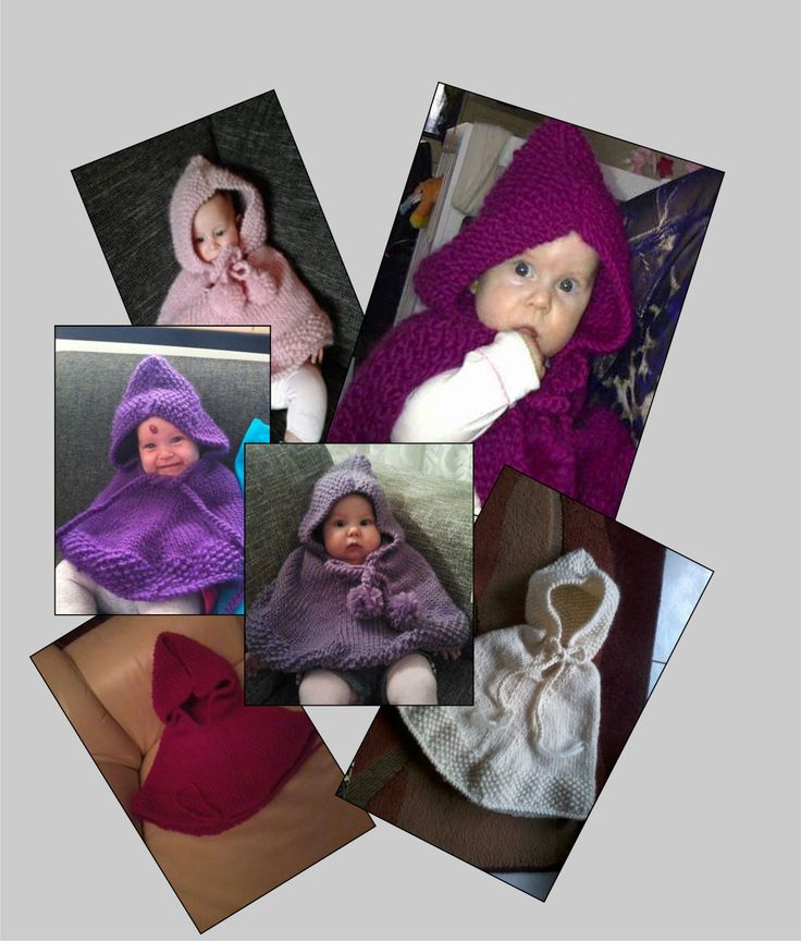 6 babyponcho's in opdracht
