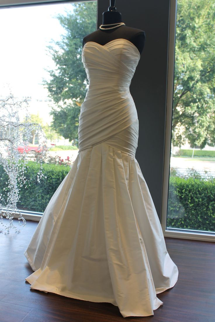 "Lea Ann Belter ""Mathia"" (Ruched Silk Trumpet Mermaid Gown Wedding Dress)"