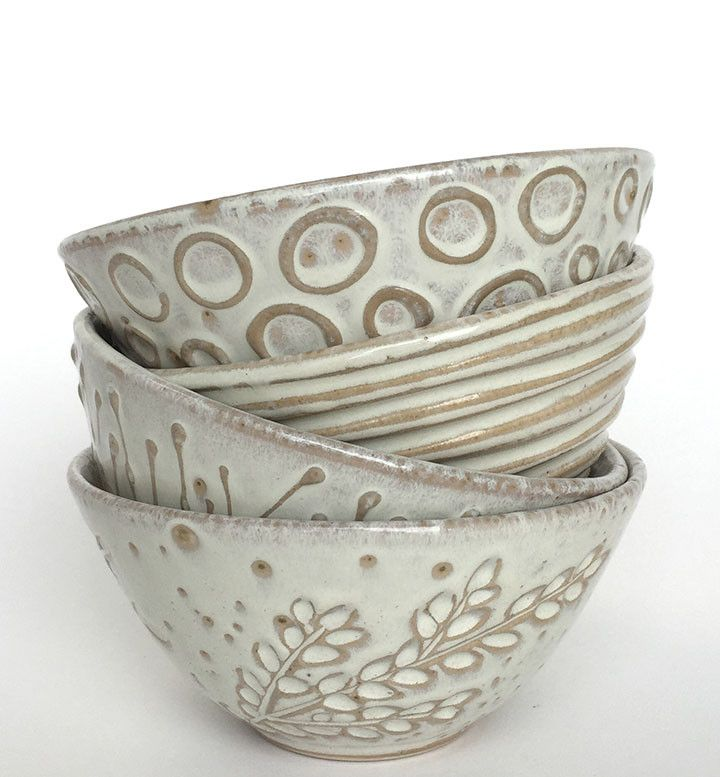 Dotti Potts Pottery-Pottery, fashion jewellery, earrings and rings | V EATING BOWLS