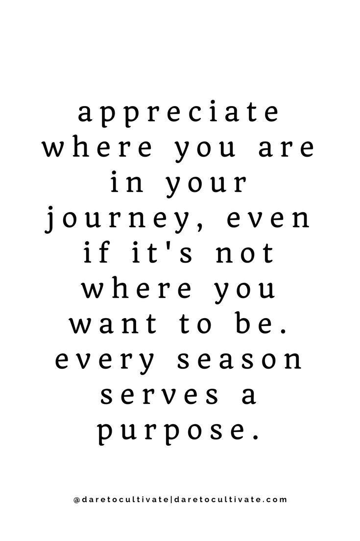 Every Season Serves A Purpose
