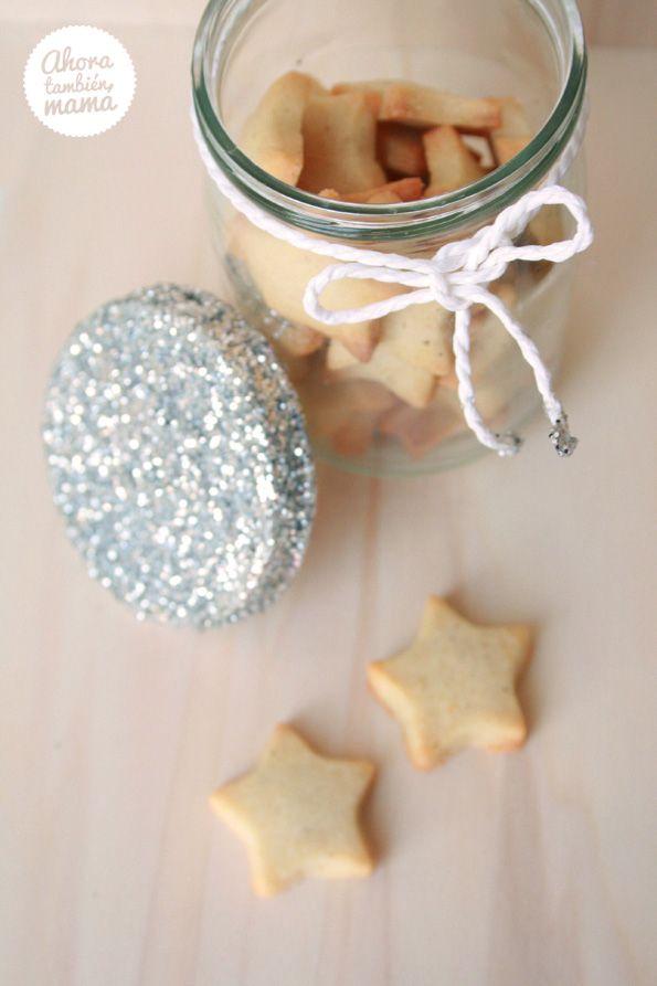 DIY frasco para galletas glitter ~ glitter mason jar for cookies ~ from Ahora también mamá   #diy #craft #howto #glitter #jar #masonjar