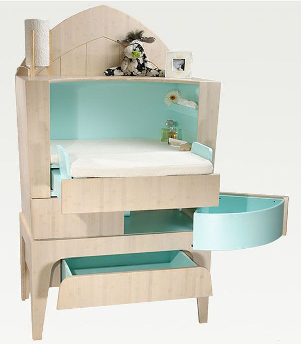 Modern Kids Furniture   Nappy Changing Commode from Castor   Chouca. Best 25  Green childrens furniture ideas on Pinterest   Green kids