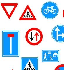 WO vakken: Verkeer. Kies verkeersexamenspel voorrang of verkeersexamenspel borden