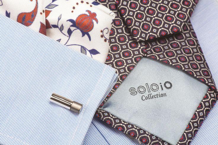 Look by SOLOiO. #groom #wedding #tie #pocketsquare www.soloio.com @soloiomoda
