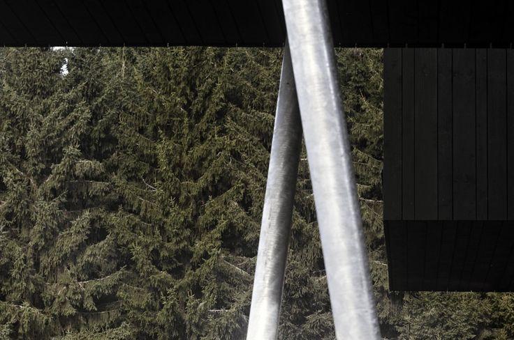 Casa de madera con revestimientos de madera en color negro http://ventacasasdemadera.com/2014/06/02/casa-de-madera-con-planta-en-u/  #madrid #casademadera #madera #casaspersonalizadas #ventacasasdemadera