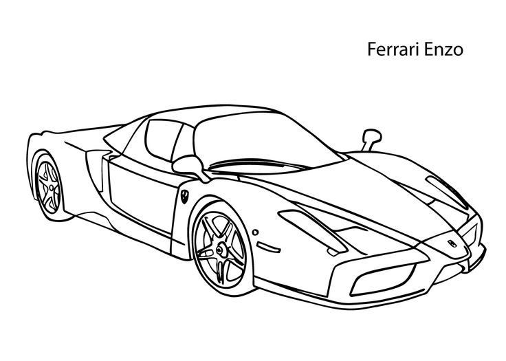 super car ferrari enzo coloring page cool car printable free applique pinterest