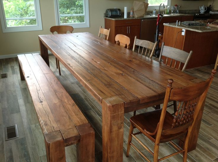 michigan-reclaimed-wood-farmhouse-tables - 13 Best Images About Table Ideas On Pinterest Farm Tables