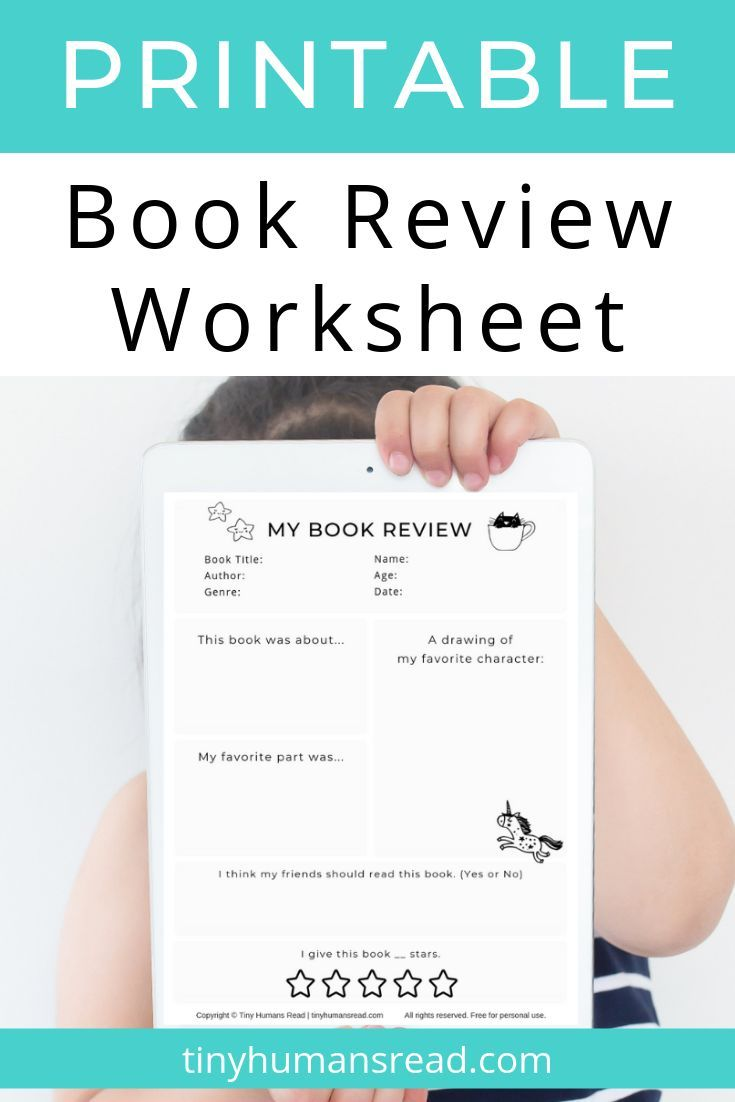 My Book Review Printable For Kids From Tiny Humans Read Grab This Easy To Use Book Review Printable F Book Reviews For Kids Homeschool Activities Book Review