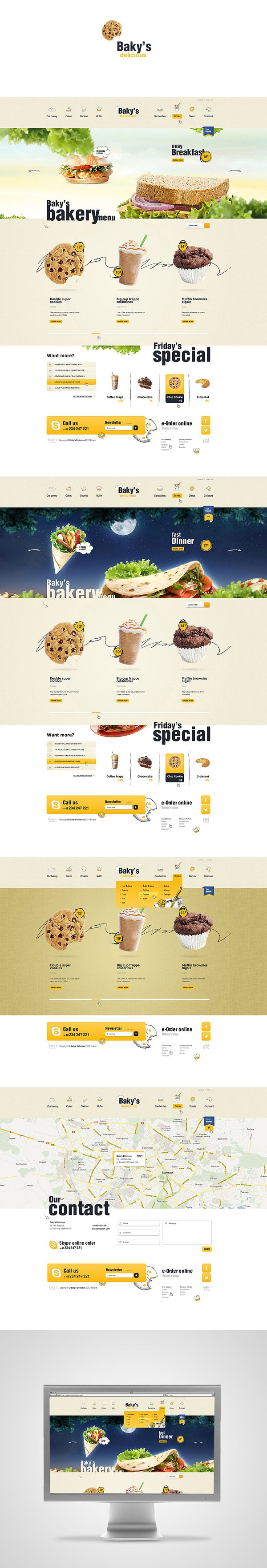 Baky's Delicious by Mateusz Parfian, via Behance