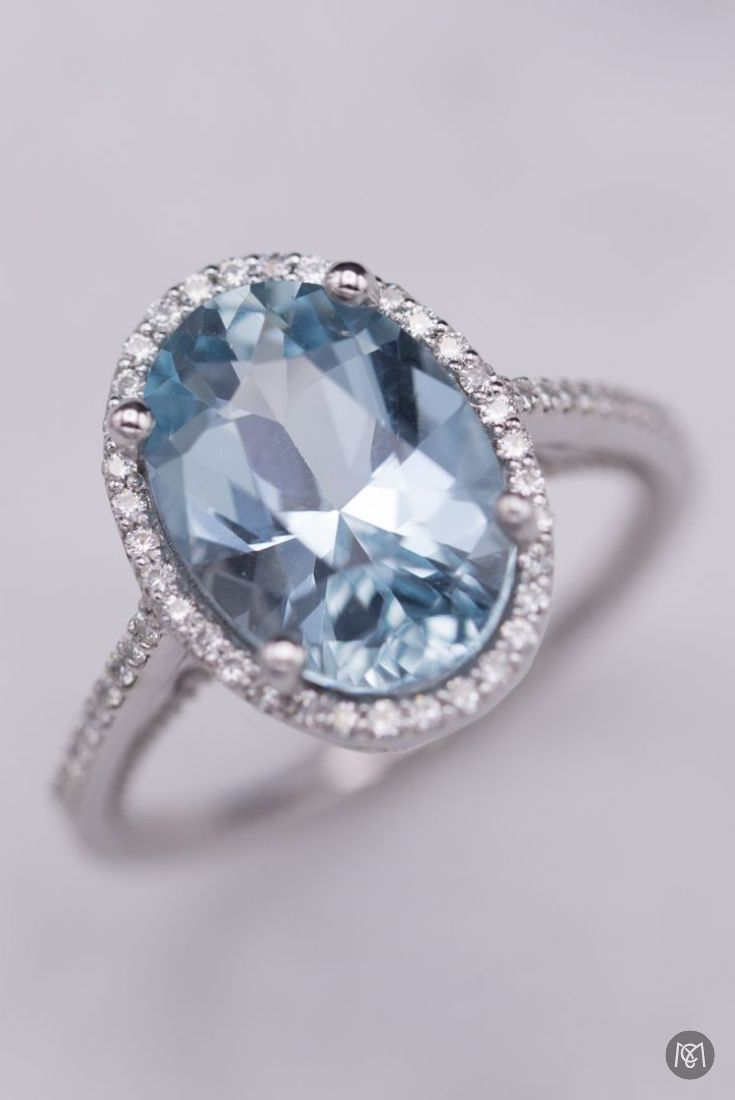 From The Top This Aquamarine Engagement Ring Looks Like The Perfect Contem Non Diamond Engagement Rings Colored Gemstone Engagement Ring Topaz Engagement Ring