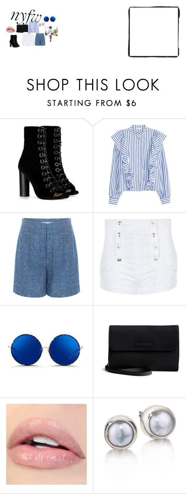 """Rocking the Sidewalk"" by pkgabriel on Polyvore featuring Barbara Bui, 10 Crosby Derek Lam, Pierre Balmain, Matthew Williamson, Vera Bradley, StreetStyle and NYFW"