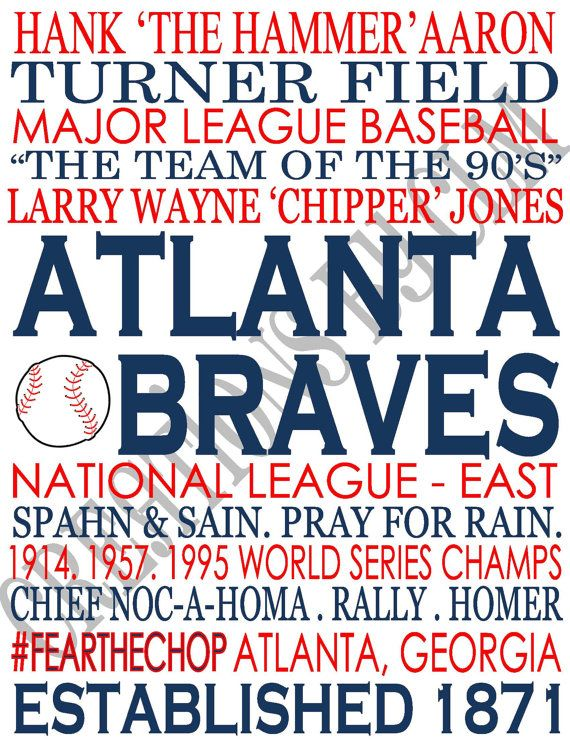 Hey, I found this really awesome Etsy listing at https://www.etsy.com/listing/165030964/subway-art-atlanta-braves-mlb-baseball