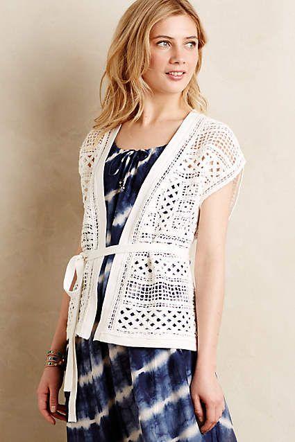 Belted Crochet Cardigan - anthropologie.com