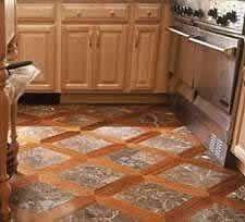 wood and slate floor pattern combinations | Mixed Media Installations - Hardwood & Tile/Stone