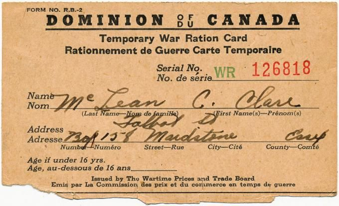 This is an image of a Canadian ration card from World War II. This source is credible as this registered government card was necessary to purchase food at this time. This tells us about the changing lives of Canadians because through rationing, Canadians were supporting their country and were sacrificing supplies for the Allies.
