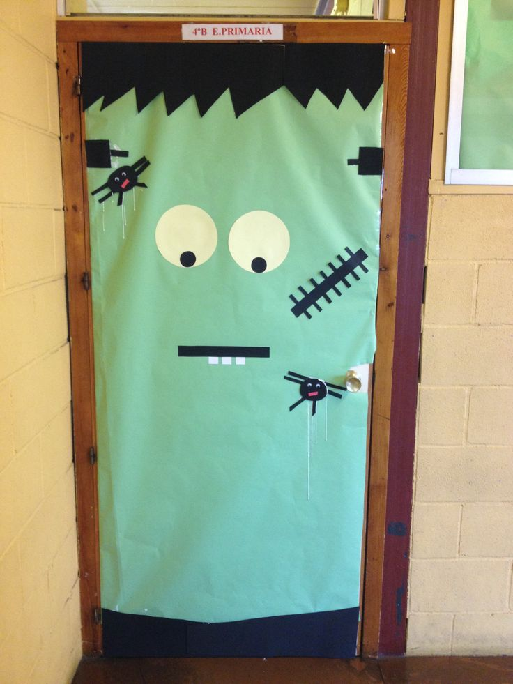 puerta decorada halloween puertas pinterest puertas