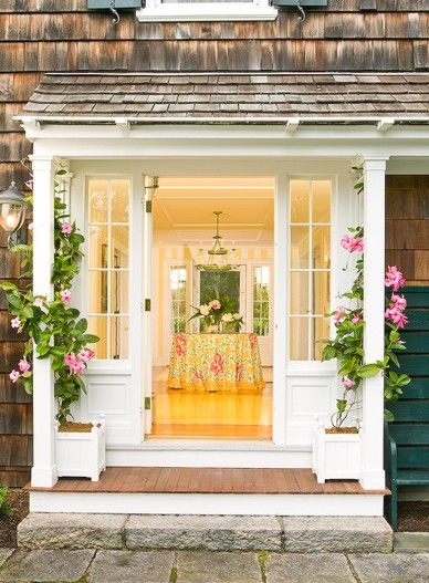 welcoming cottage entry