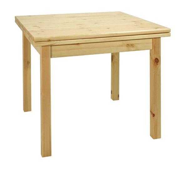 Tavolo allungabile a libro rustico in legno massello di pino di Svezia, in varie misure. www.arredamentirustici.it