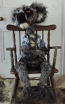 "Large pose able Koala bear art doll. 105cm (41"") in length Australian animal."