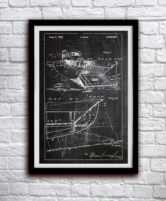Landing Craft 1951 - Military Decor - Patent Print Poster Wall Decor - 0052