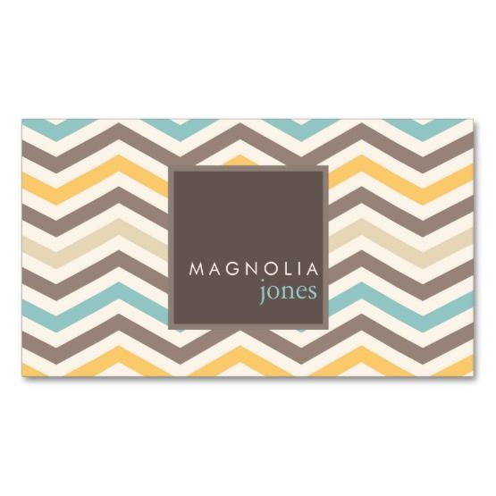 Leave a impressive first impression with these custom chic chevron modern professional business cards. Trendy and contemporary, chevron pattern in soft browns, teal and gold makes a modern design for any professional or service consultant.