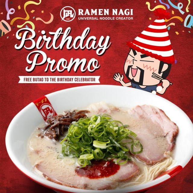 Ramen Nagi Birthday Promo Home Food Ramen Birthday