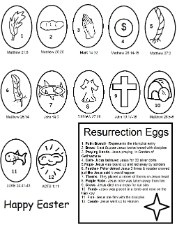 Easter Resurrection Eggs Coloring Pages
