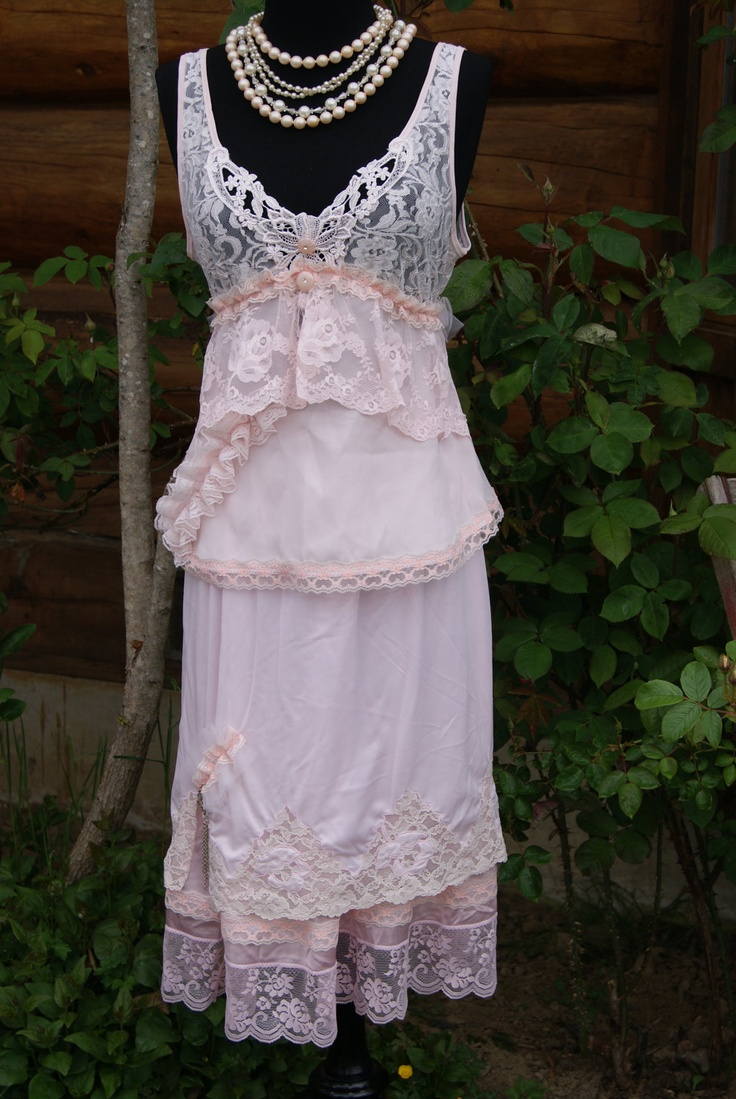 French Country Clothing Part - 49: Altered Couture, Slip Dress, Two-piece Slip Dress, Spring French Country,