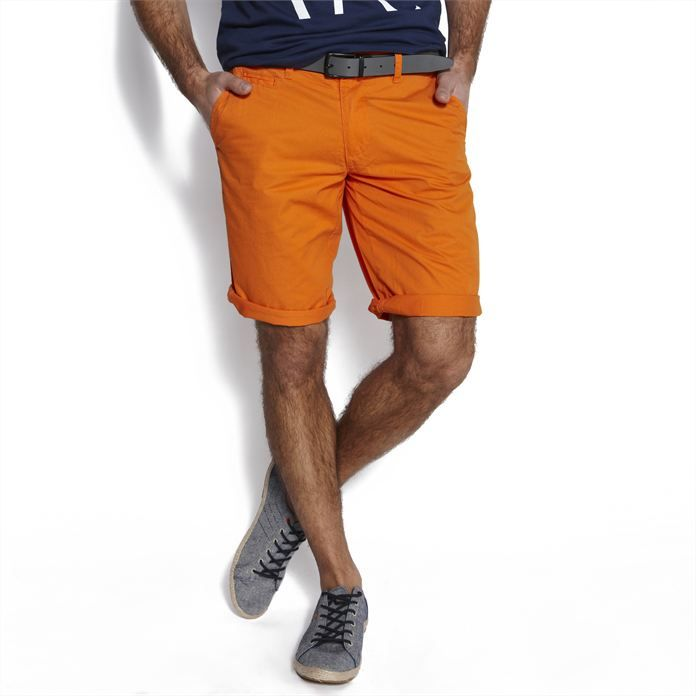 Bermuda chino Orange Vif homme – la mode homme sur Jules.com
